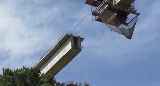 צפו: הגשר הגבוה בארץ לקראת סיום בנייתו