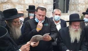 """הגאב""""ד, האדמו""""ר וראש העיר בקבר יוסף"""