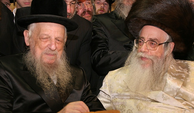 הרבי מסערט ויז'ניץ עם גדולי ישראל