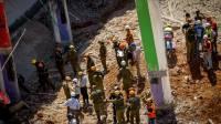תיעוד ענק: זירת ההרס בהתרסקות בתל אביב