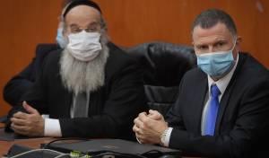 ראש העיר אברהם רובינשטיין עם שר הבריאות יולי אדלשטיין. ארכיון
