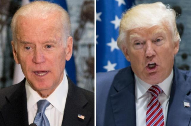 הנשיא טראמפ וסגן הנשיא לשעבר ביידן