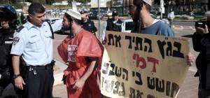 מפגינים יהודים נגד העינויים