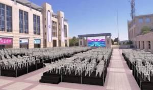 ההכנות להאירוע המרכזי לבני עליה בירושלים. בהקלטה: אהרל'ה וינטרוב שר: יצחק אלחנן שמאלה