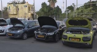 חלק מהרכבים שנתפסו - סוחר כלי רכב נעצר בחשד להונאת מיליונים