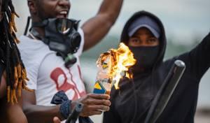 זירת הפגנה של 'חיי שחורים נחשבים'