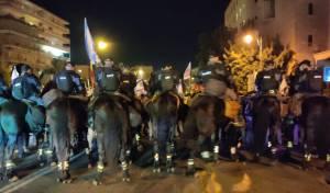 שלושים נעצרו בהפגנת השמאל בירושלים
