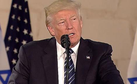 "הנשיא דונלד טראמפ בנאומו - הנשיא טראמפ בדרכו לנתב""ג •  שידור חי"