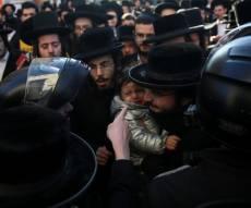 הפגנה סוערת בירושלים: עצורים במאבק על הרכבת הקלה