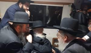 """באורח נדיר: הגר""""ח קנייבסקי עלה לירושלים"""