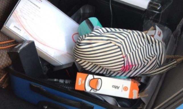 חלק מהרכוש הגנוב שנתפס ברכב