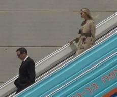 איוונקה טראמפ וג'ארד קושנר נחתו בישראל