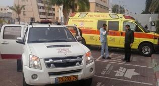 היולדת הגיעה לבית החולים בניידת כיבוי אש
