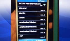 """צילום מסך עם שם הרשת """"Al-Quida Free Terror Nettwork"""""""