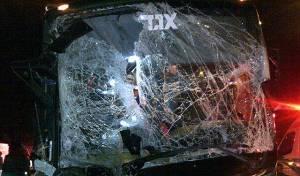 צפו: קו 402 התנגש חזיתית במשאית