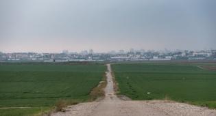 השדות הסמוכים לגבול ישראל ליד עזה