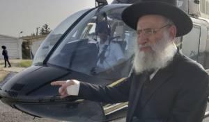 צפו: הגאון רבי ראובן אלבז יצא למירון במסוק