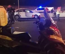 זירת התאונה - האם חילצה את בתה - ושתיהן נדרסו למוות