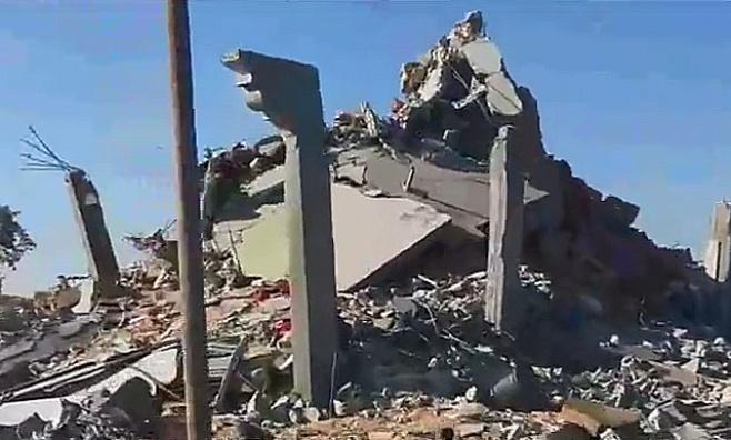 צפו: ההרס הרב בכפר חוזאעה בעזה