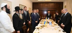 בפגישת נתניהו ונשיא אוקראינה: הרב ארוש