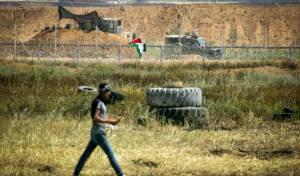 """כוחות צה""""ל בעוטף עזה - צה""""ל תקף בעזה; ירי מקלעים הפעיל אזעקה"""