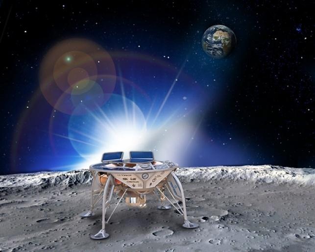 חללית פרטית על הירח. הדמייה