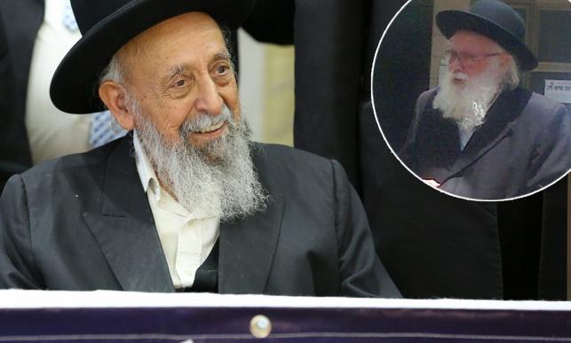 """הרב סילמן ביציאה ממעונו של הגר""""ש בעדני"""