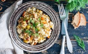 אורז עם בשר טחון וירקות