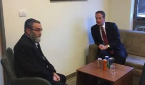 גפני בפגישה עם השגריר הבריטי