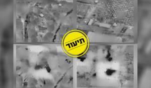 """צה""""ל מציג: רגע התקיפה והיעדים שהותקפו"""