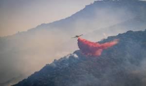 כיבוי שריפה אתמול ליד קרית טבעון