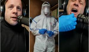 בשידור חי: מנחם טוקר עבר בדיקת קורונה