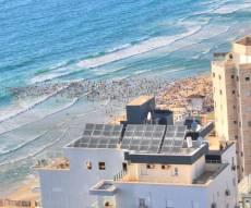 מהאוויר: צפיפות בחוף הנפרד בנתניה • צפו