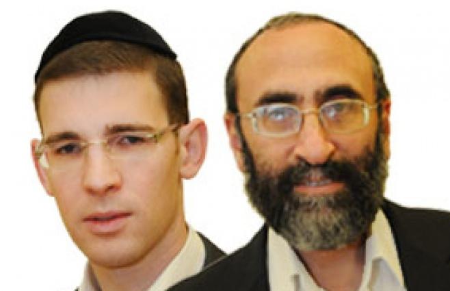 יעקב ריבלין ואבי בלום