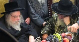 """צפו: הרבי מבעלזא אצל הרבי מתוא""""י"""