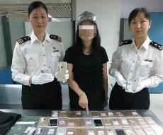 המבריחה עם השלל - 102 אייפונים נתפסו על גופה של אישה סינית