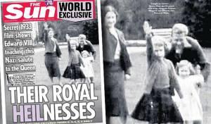 סרטון נדיר חושף: מלכת אנגליה מצדיעה במועל יד