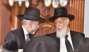 הגאון רבי זמיר כהן עם נשיא מועצת חכמי התורה וראש הישיבה חכם שלום כהן