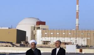 """נשיא אירן וראש צוות המו""""מ על רקע הכור הגרעיני בבושהר"""