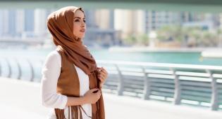 מוסלמית בדובאי, אילוסטרציה
