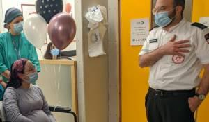 בני הזוג, עם שחרור האישה מבית החולים