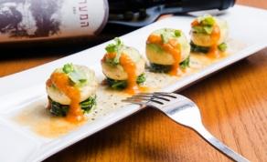 """המנה המקורית באתר המסעדה. בהמשך הכתבה: איך היא הוגשה לנו - דגים טעימים, שירות מגעיל: החוויה שלי ב""""פסקדוס"""""""