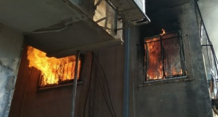 שריפה בדירה. אילוסטרציה