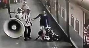 הרגע שבו שוטר הציל ילדה מדריסת רכבת