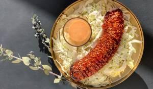 נקניק סלמי אפוי ברוטב צ׳ילי-חרדל משגע