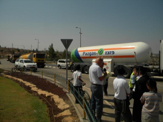 משאית חברת פזגז. ארכיון