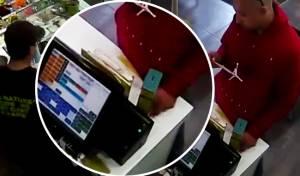 צפו: גנב קופת צדקה ותועד במצלמות החנות
