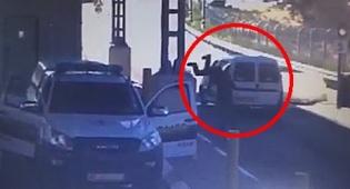 צפו: הקצין מזנק אל מכונית התופת ומונע פיגוע