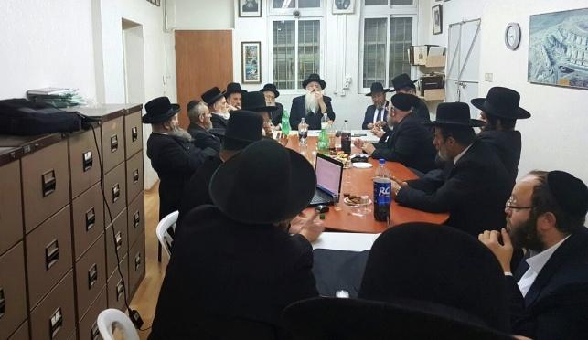 נציגי סיעת אגודת ישראל בדיון חירום
