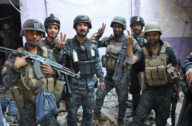 חיילים עיראקים חוגגים במוסול, ארכיון